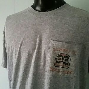 Burnout Tshirt Boy Scouts Camp Tee one pocket